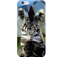 Zebra Head African Background Theme Low Poly  iPhone Case/Skin