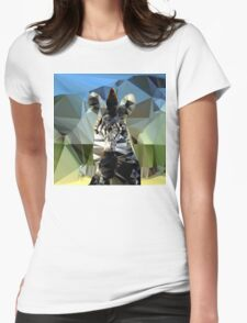 Zebra Head African Background Theme Low Poly  Womens Fitted T-Shirt