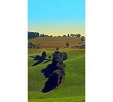Autumn fields panorama   landscape photography Photographic Print