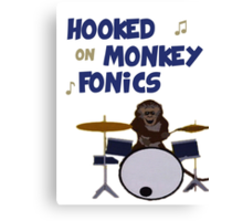 Monkey fonics Canvas Print