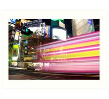 Shibuya Lights Art Print