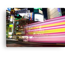 Shibuya Lights Canvas Print