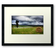 Hay, Poppies, and Clearing Storm Framed Print
