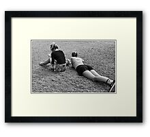 Oblivious Framed Print