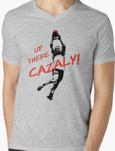 Up There Cazaly Mens V-Neck T-Shirt