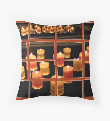 Flames in the Mirror Throw Pillow
