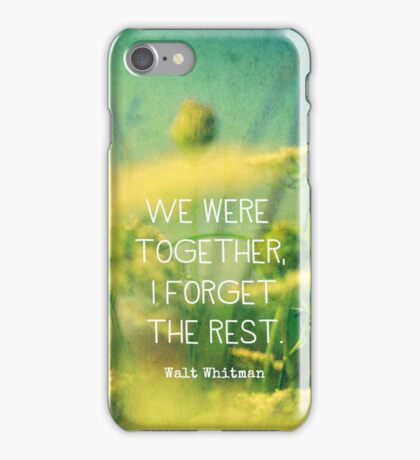 We Were Together iPhone Case/Skin