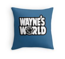 Wayne's world film movie logo Throw Pillow