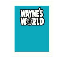 Wayne's world film movie logo Art Print