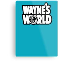 Wayne's world film movie logo Metal Print