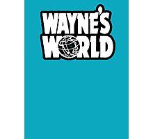 Wayne's world film movie logo Photographic Print