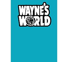 Wayne's world film movie logo Photographic Print