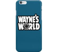 Wayne's world film movie logo iPhone Case/Skin