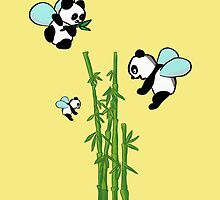 Flying pandas by Helenave