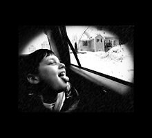 catching snowflakes on his tongue by Beth BRIGHTMAN