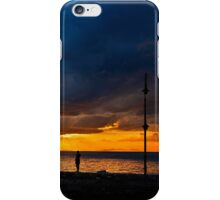 Watching the ships go by iPhone Case/Skin