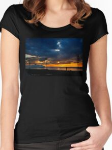 Watching the ships go by Women's Fitted Scoop T-Shirt
