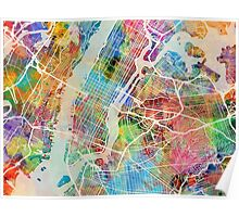 New York City Street Map Poster
