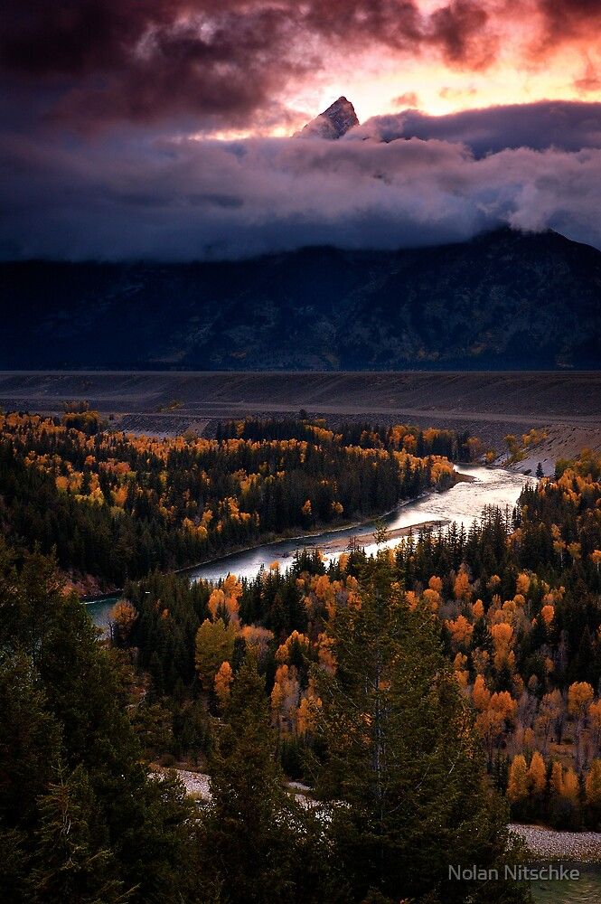 Snake River Overlook- Grand Tetons NP by Nolan Nitschke