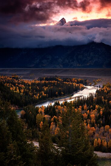 Snake River Overlook- Grand Tetons NP by Nolan Nitschke