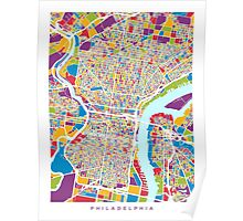 Philadelphia Pennsylvania Street Map Poster
