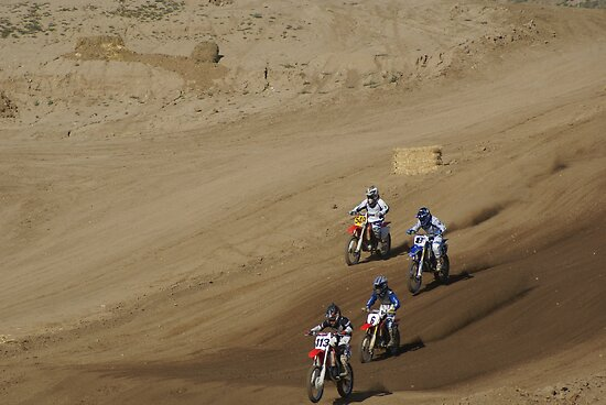 Loretta Lynn's SW Area Qualifer - Rider #'s 548, 8, 6 & 113 powering towards the corner turn 4-6-2008 Competitive Edge MX - Hesperia, CA, (197 Views as of May 25, 2011) by leih2008