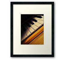 Yellow Keyboard Framed Print