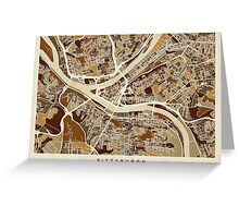 Pittsburgh Pennsylvania Street Map Greeting Card