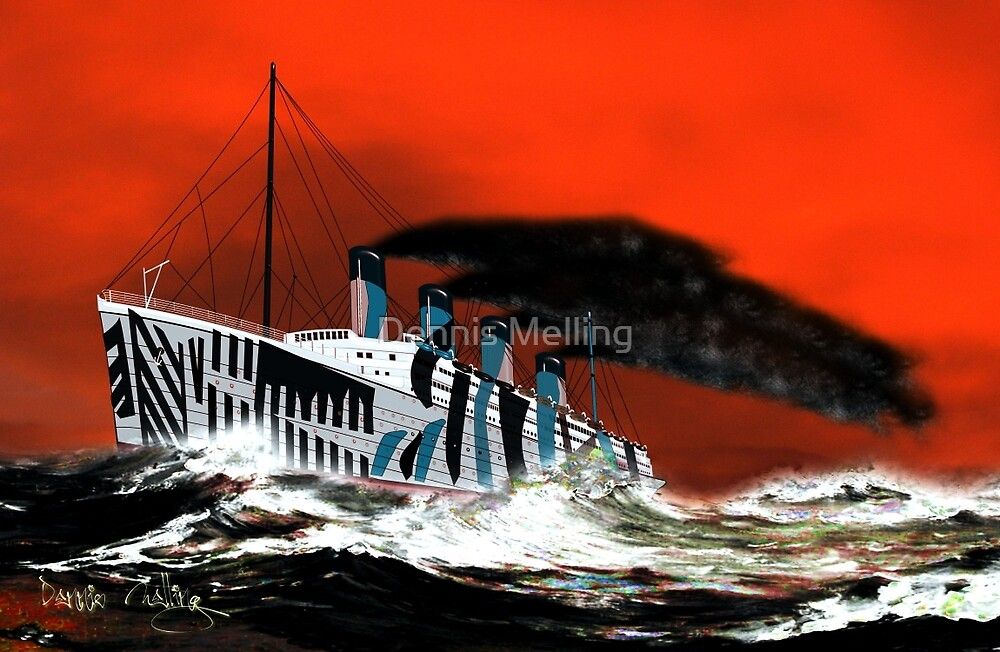 RMS Titanic's Senior Sister RMS Olympic by Dennis Melling
