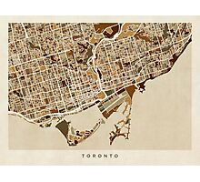 Toronto Street Map Photographic Print