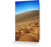 Sand Dunes and Blue Skies Greeting Card