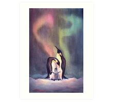 PENGUIN FAMILY by SHARON SHARPE Art Print