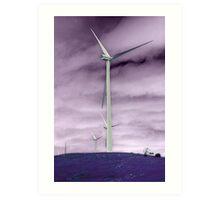 Negative Windmill Art Print
