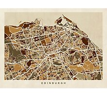 Edinburgh Street Map Photographic Print