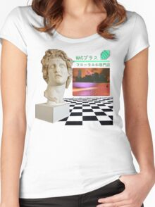 Floral Shoppe - Macintosh Plus Women's Fitted Scoop T-Shirt