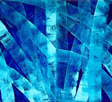 Blue Abstract Art - Paths - By Sharon Cummings by Sharon Cummings