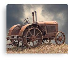Rusty Tractors Never Die Canvas Print