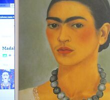 Per la mia amica Madalena Lobao......autoritratto con collana 1933 di Frida Kahlo- by Guendalyn