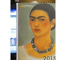 Per la mia amica Madalena Lobao......autoritratto con collana 1933 di Frida Kahlo- Photographic Print