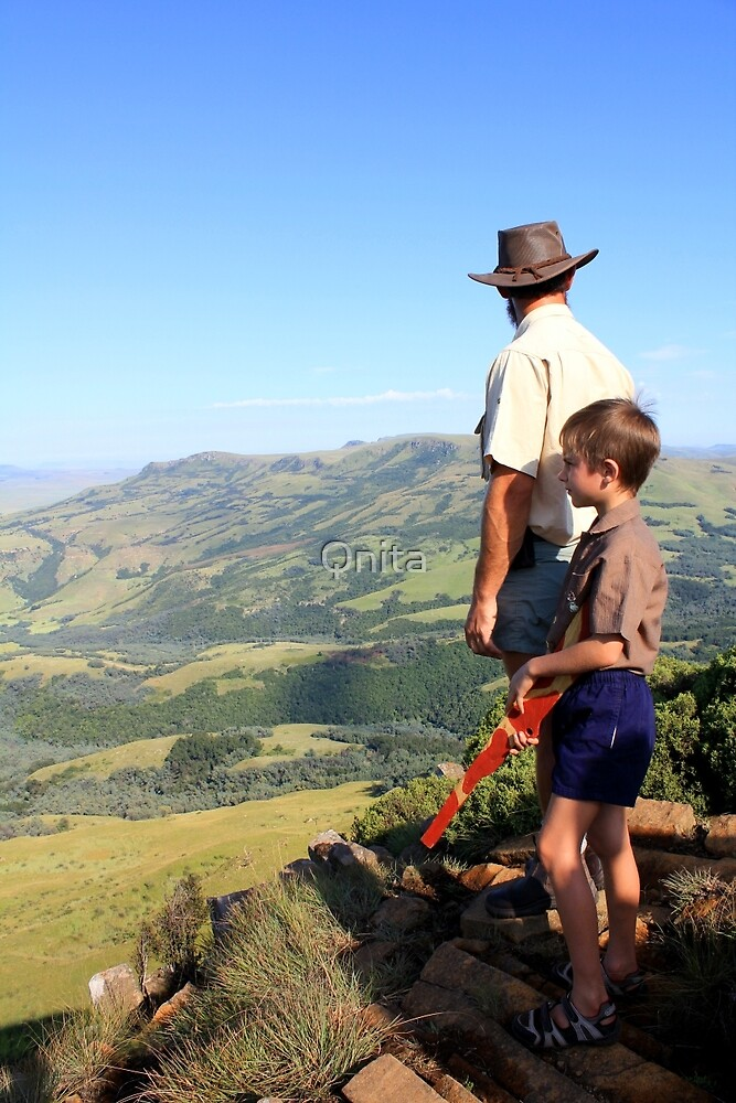On top of Majuba Mountain, thoughts going back to an event 131 years ago... (Natal, South Africa) by Qnita