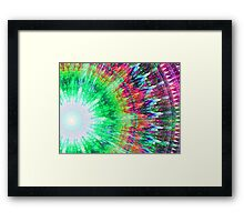 Trippy Tie Dye Framed Print