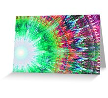Trippy Tie Dye Greeting Card