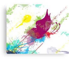 Butterfly (with purple) Canvas Print