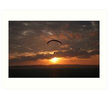 Paraglider at Sunset Art Print