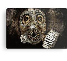 Couldn't Care Less Typography  Metal Print