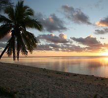 Aitutaki Sunset by ardwork