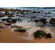 It Rocks ! - Sydney Beaches - Avalon Beach - The HDR Series - Sydney Australia Photographic Print