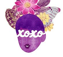 XOXO Typography Art Print by TabithaBianca