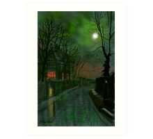 Wet Lane in Winter Art Print