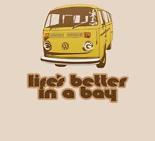 Volkswagen Kombi Tee shirt - Life's Better in a Bay - Yellow Unisex T-Shirt